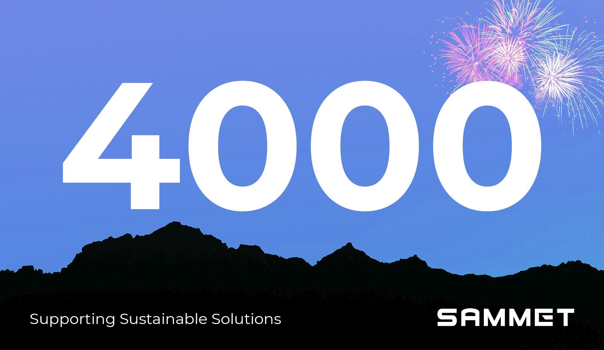 4000 Sammet followers on LinkedIn